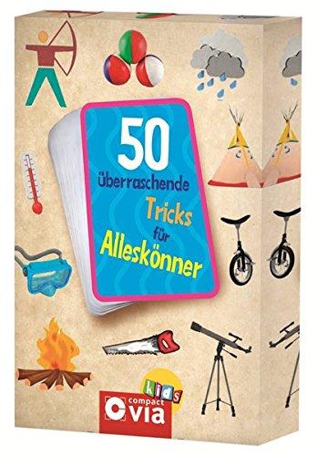 50 überraschende Tricks für Alleskönner: Karten mit Tricks und Kunststücken, die beeindrucken (Karten für Kinder)