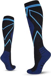 Tempusort Mens Compression Socks 20-30 mmHg Knee High Unisex Adults Athletic Socks for Sports Running Cycling Flight Trave...