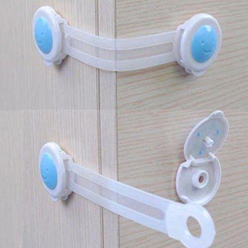 Seguryy Türsicherung / Schubladensicherung für Schrank / Kleiderschrank, Kunststoff, für mehr Sicherheit, für Kleinkinder / Babys, 16 cm, 10 Stück