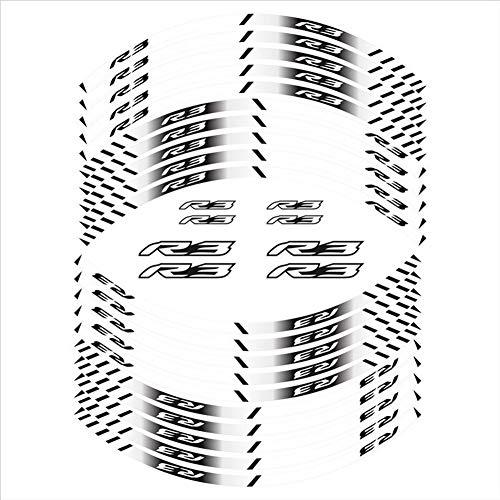 Stripe wasserdichte Reifen Film Motorrad Aufkleber Rad reflektierende dekorative Decal for R3 Aufkleber (Color : 180106)