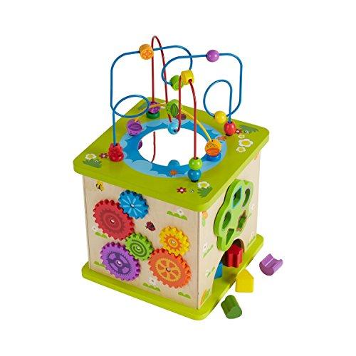 Solini Baby Motorikwürfel Garten aus Holz / Kinder Spielzeug / ab 12 Monate / bunt/natur