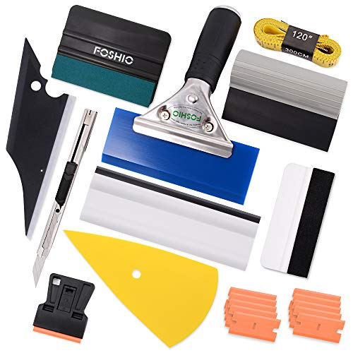 FOSHIO Pro Car Vinyl Wrapping Tools Auto Film Rakel Installation Kit gehören alle Arten von Squeegees, magnetische Soft Tape Maßnahme, Rasiermesser Schaber, Cutter