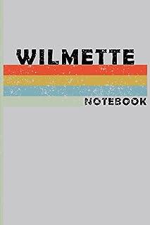 WILMETTE City Vintage Style: WILMETTE Notebook Journal Gift;Vintage Retro Design; Notebook Planner - 6x9 inch Daily Planne...
