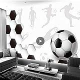 サッカーフォト壁紙壁の壁画、サッカーワールドカップのための3D壁紙キッズルーム、デコレーションルームの装飾280 cm(W)x 180 cm(H)
