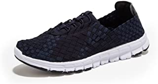 ZUAN Women and Men's Acrobatic Shoes Breathable Honeycomb Mesh Cloth Categorical Heel Slip on Sneaker