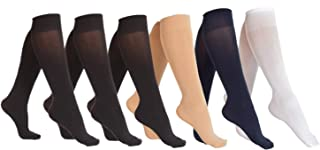 Women's Opaque Spandex Trouser Knee High Socks