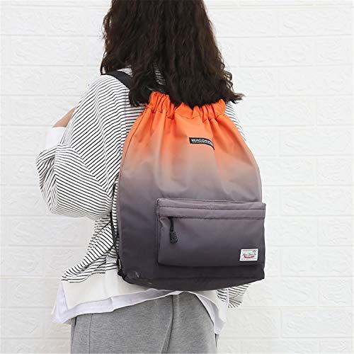 Risefit Waterproof Drawstring Bags, Printed Gym Sackpacks Bags Sports...