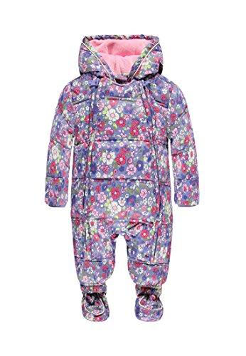Kanz Baby Mädchen Schneeanzug mit Kapuze Little Bird 1642251, Mehrfarbig (allover 0003), Gr. 68