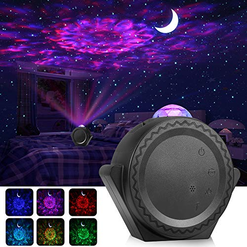 ALOVECO Star Projector, Night Light Projector LED Nebula Cloud Light with Moon Star, Touch&Voice Control Auto-Off Starry Sky Laser Projector for Game Room Party Home Theatre Night Light Ambiance