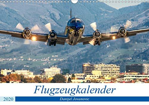 Flugzeugkalender (Wandkalender 2020 DIN A3 quer)