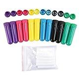 Kobwa - Lot de 12 bâtonnets d'inhalation nasale rechargeables pour aromathérapie