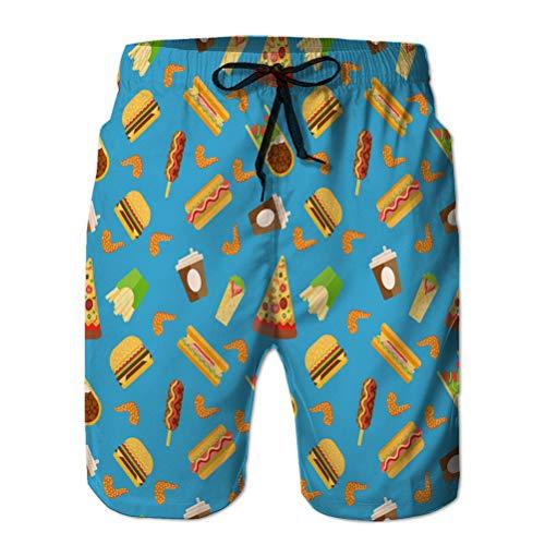 Xunulyn Stampa da Uomo Pantaloncini da Spiaggia Costume da Bagno a Rapida Asciugatura rapido