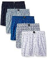 Badger Smith Men's 5 - Pack Cotton Print Multicolor Boxer Shorts S Multi