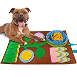 FREESOO Snuffle Mat para Perros Alfombra de Actividades para Mascotas Alfombra Olfato Perro Gatos Mascotas Estera Tapete de Entrenamiento Juego Juguetes de Alimentación Tazón Lavable Antideslizante