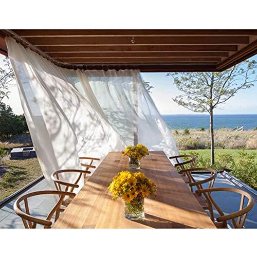DLMSDG – Cortina exterior para cenadores al aire libre, resistente al viento, impermeable, protección solar, para porche, terraza, balcón (1,5 x 2,7 m)