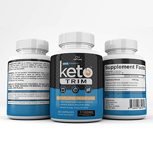 Keto Trim Pills - Fat Utlizing Weight Loss - Limitless Labs - 1100MG - 180 Capsules - 90 Day Supply 8