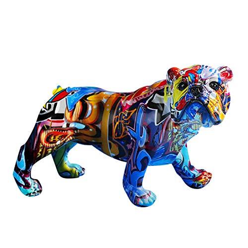 Graffiti Chihuahua Statue, MultiColor Dog Statue Innovative Resin Animal Ornament Chihuahua Puppy Figurine Resin...