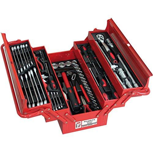 HOLZMANN MASCHINEN WZK86CrV Werkzeugkasten bestückt Rot