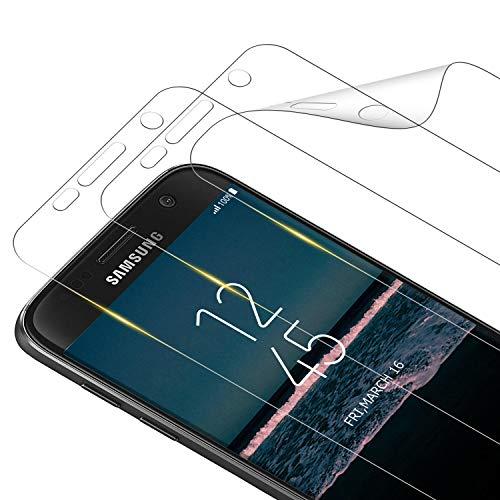 RIIMUHIR Protection Écran pour Samsung Galaxy S7 [3 Pièces], Ultra Slim Souple TPU Film Couverture Complète HD Clair Protege Ecran sans Bulles pour Galaxy S7