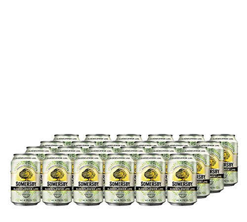24 x Somersby Elderflower Lime 0,33ml