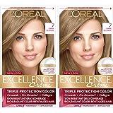 L'Oreal Paris Excellence Creme Permanent Hair Color, 7 Dark Blonde, Pack of 2