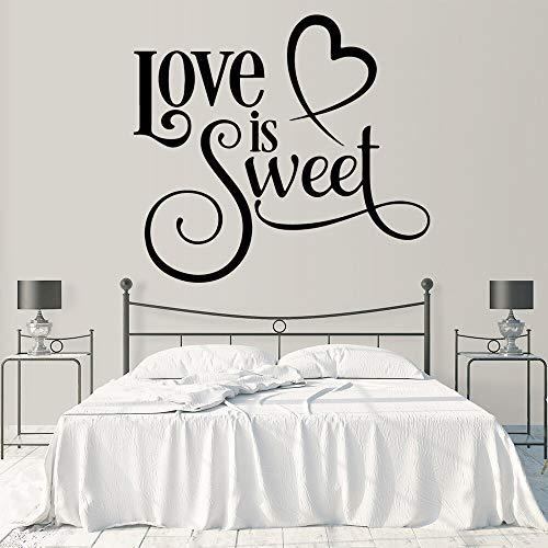 Amor dulce vinilo autoadhesivo impermeable pared calcomanía para habitación de niños Diy decoración del hogar Mural pegatina de pared A1 XL 57x63cm