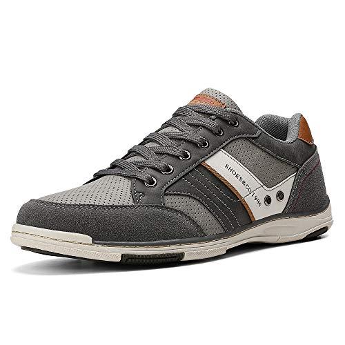AX BOXING Freizeitschuhe Herren Walkingschuhe Berufsschuhe Sneaker Wanderschuhe Trainers (Grau, Numeric_43)