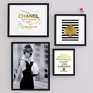 Set Fashion Glam Wall Art Designer Print Poster Audrey Hepburn