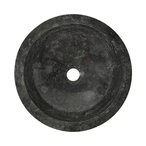 Nishore Lavabos de Baño Lavabo sobre Encimera Lavabo Fácil de Limpiar 40 x 12 cm Mármol Negro
