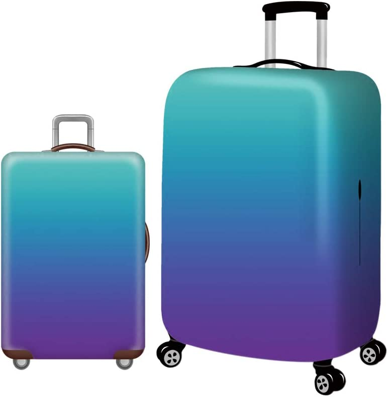 Zhuhaixmy Tri-Color Gradient Pattern Suitcase Cover Travel Baggage Protector Dust-Proof Cover Durable Fabric 18-30 Inch Cover Only