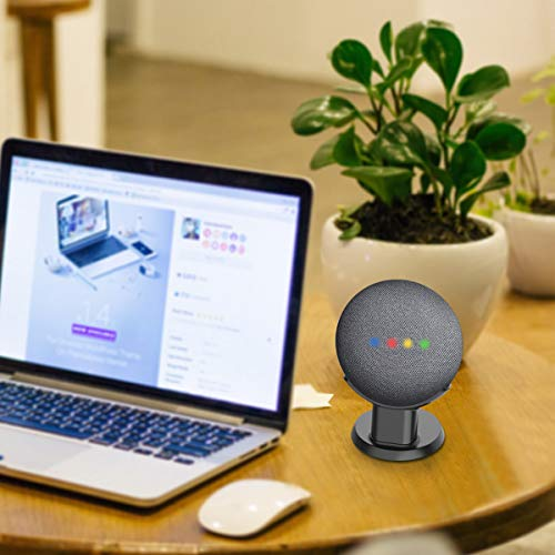 SPORTLINK Pedestal for Nest Mini (2nd Gen) and Google Home Mini (1st Generation) Improves Sound Visibility and Appearance - A Must Have Mount Holder Stand for Nest Mini (2nd Gen)/ Google Mini (Black)