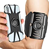 AONKEY Detachable Running Armband, 360° Rotatable Cell