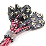 Connecteurs à Clip de Batterie 9 V Type I, Ancable 20pcs Coupleur Branchement Raccordement Fils de Pile à Clips 9 V Connecteur de Batterie 15cm Connecteurs I Type…