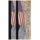 Oarencol Juego de 2 fundas para manija de puerta de nevera, diseño de águila calva vintage con bandera americana de Estados Unidos, decoración de electrodomésticos para nevera, horno y lavavajillas