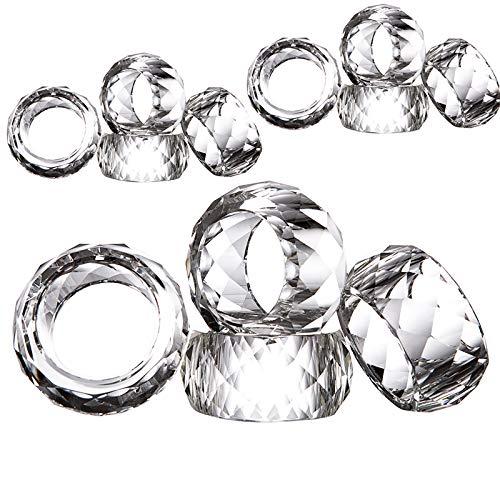Donoucls Kristall Serviette Ring Satz von 12 Tischdekoration Geburtstag, Weihnachten Abendessen Geschenk