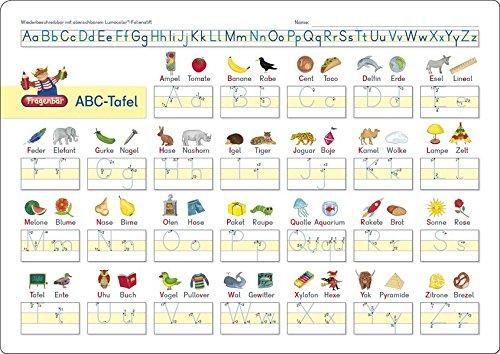 Fragenbär-Lerntafel: ABC-Tafel, 32 x 22,5 cm: stabiler Karton, folienbeschichtet, wiederbeschreibbar mit abwischbaren Lumocolor®-Folienstiften (Lieferung ohne Stift) (Lerne mehr mit Fragenbär)