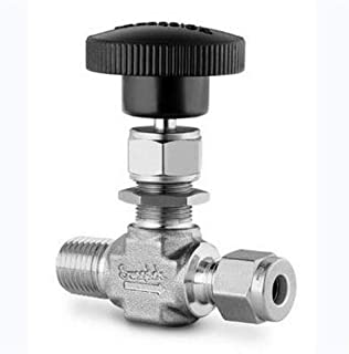 Swagelok M-20VF4 Integral Bonnet Needle Valve Female : NPT Inlet : 1//4 in Female : NPT Outlet : 1//4 in Material : Monel Alloy 400