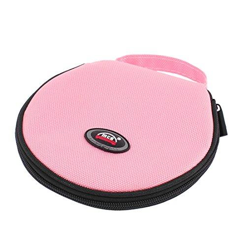 10 Blätter 20 Stk Rosa Nylon Reißverschluss Schließung Kapazität CD DVD Tasche de