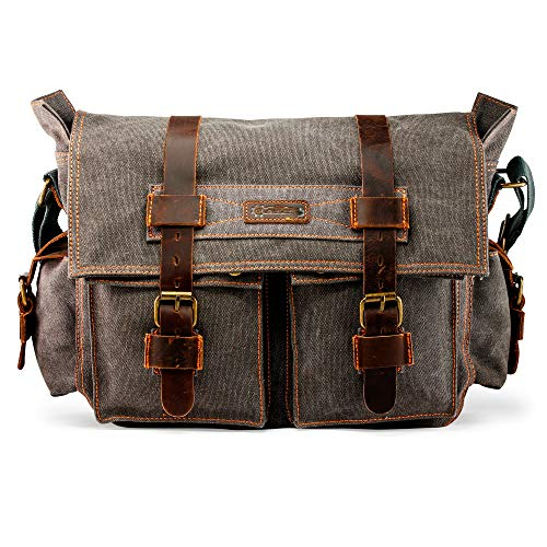 SPACIOUS AND VERSITLE: This large duffle bag has an approximate length of fourteen inches, width of four inches, and height of seven inches (14 x 4 x 7 inches). Big enough to fit your laptop, your lunch, a camera, shaving equipment, garments, or anyt...