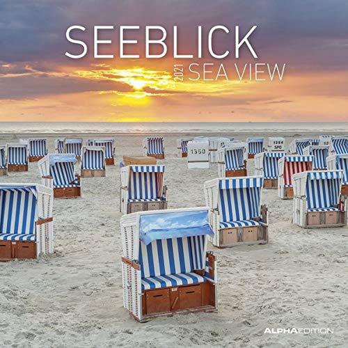Seeblick 2021 - Broschürenkalender 30x30 cm (30x60 geöffnet) - Sea View - Bild-Kalender - Strand & Meer - Wandplaner - mit Platz für Notizen - Alpha Edition