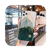 夏の新しい塗装ゴールドフォイルシリコンケースFor iPhone11 Pro Xs Max SE XR X 6 6s 7 8Plusグリッターフルーツオレンジソフトケースカバー-D61-For iPhone 11 Pro