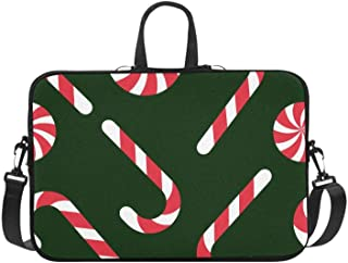 Christmas Lollipop Dessert Pattern Briefcase Laptop Bag Messenger Shoulder Work Bag Crossbody Handbag for Business Travelling