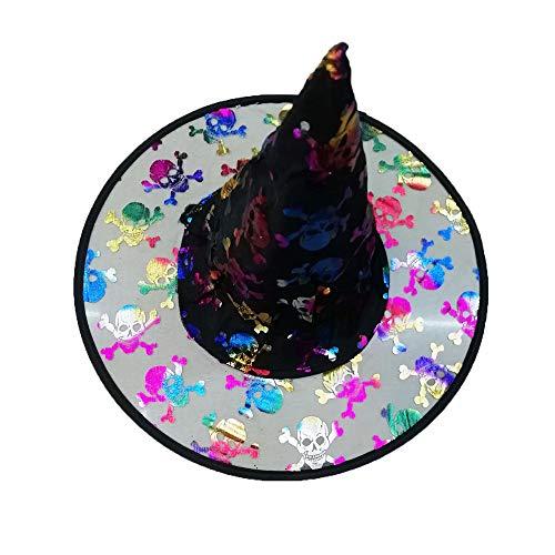 Pageantry Schwarze Hexe Hüte für Halloween Kostüm Zubehör Magic Cap Party Stützen Zubehör Hexenhut für Damen Halloween Horror Party Schwarz Hexe Hut Kopfbedeckung