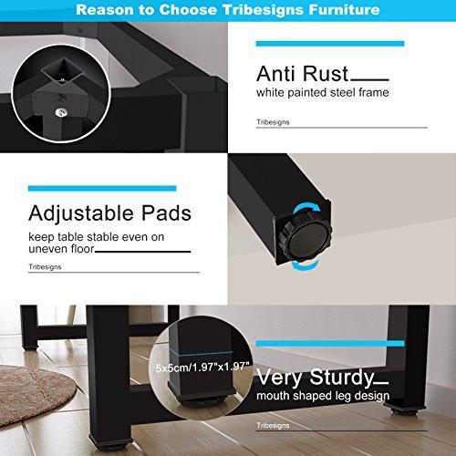 Tribesigns Modern Simple Style Computer Desk PC Laptop Study Table Office Desk Workstation for Home Office, Teak + Black Leg