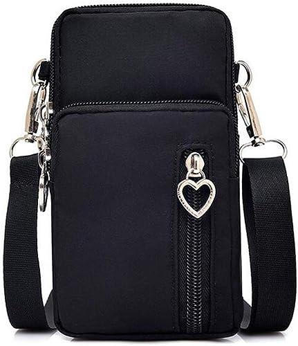 Women Nylon Cell Phone Purse Travel Crossbody Bag Wristband Sport Armband Wallet for Galaxy S10 Plus S9 Plus A50 A7 J...