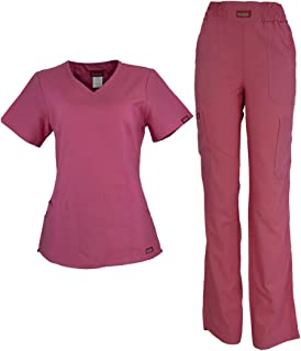 ER-05-CONJUNTO ANA ISABEL UNIFORMES Conjunto de Uniforme Médico para Mujer - Dama - Traje Completo Filipina y Pantalón Méd...