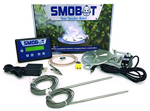 SMOBOT WiFi Kamado Grill and Smoker Temperature Controller Type A - fits Big Green Egg M, L, XL,...