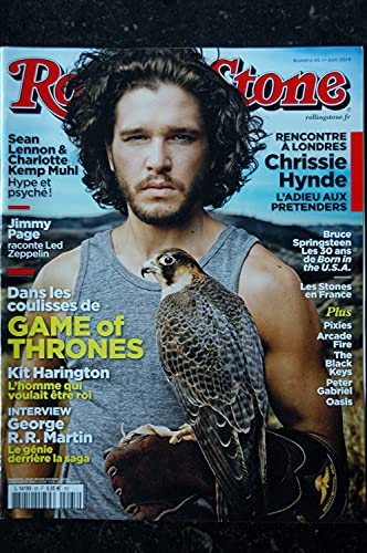 ROLLING STONE 65 JUIN 2014 COVER KIT HARINGTON GEORGE R.R.MARTIN GAME OF THRONES HYNDE SPRINGSTEEN
