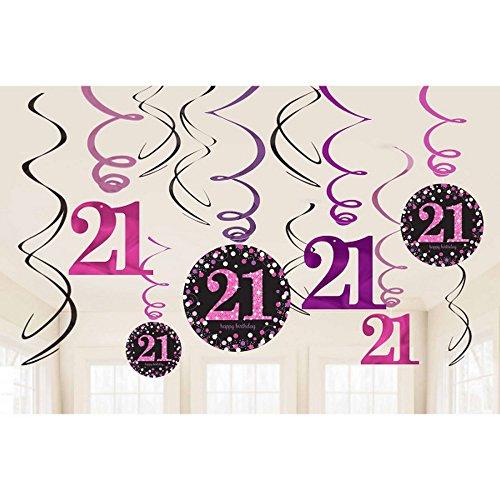 amscan 9900589Luftschlangen-Dekoration zum 21. Geburtstag