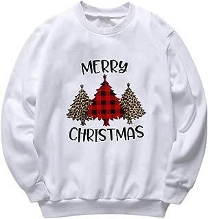 MOHOLL Christmas Santa Joy Costume Funny Tees Women's Cute Letters Print Long Sleeve T-Shirt Novelty Baseball Tops